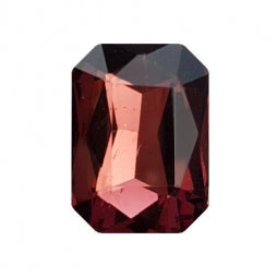 Fancy Stone Rectangle 13x18mm Wine Red