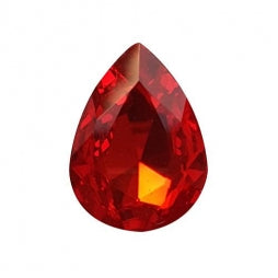 Fancy Stone Teardrop 25x18mm Red