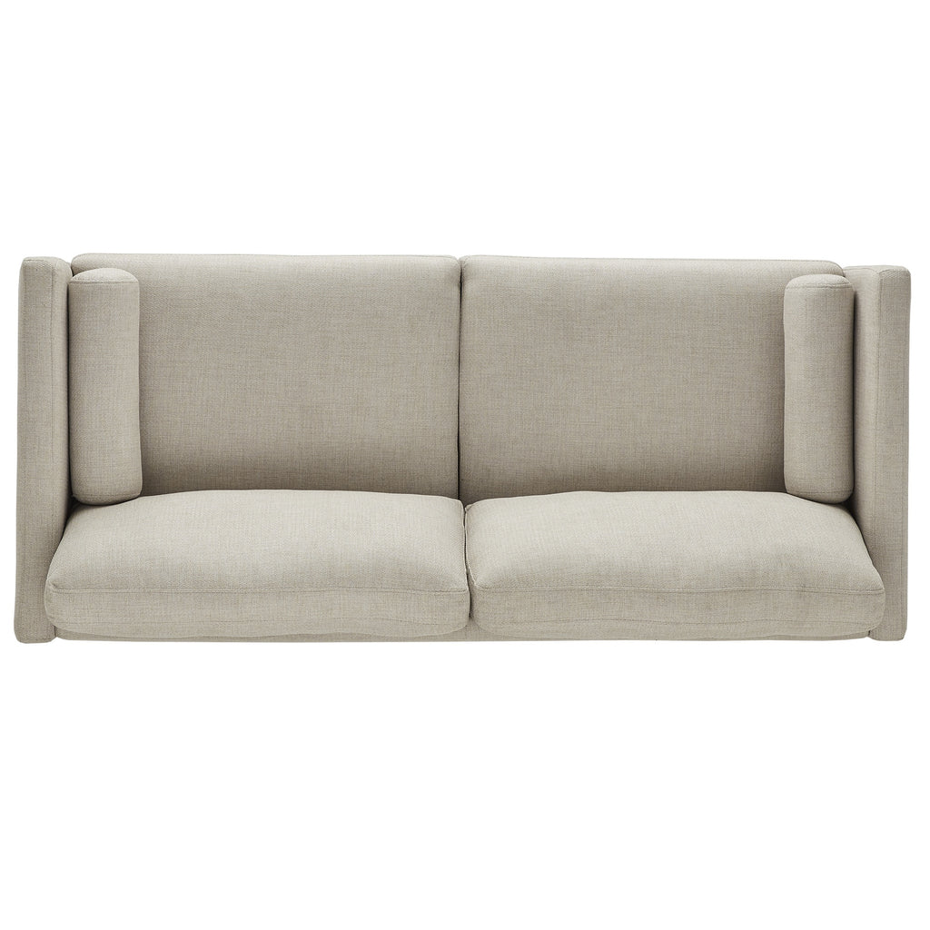 Oana Oatmeal Mid-Century Tapered Leg Sofa with Pillows by iNSPIRE Q Modern