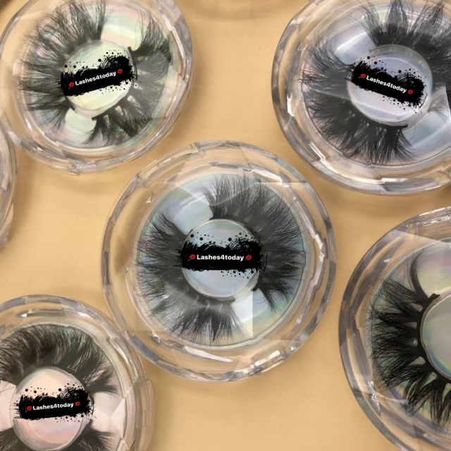 wholesale diamond round boxes ,  diamond clear plastic round boxes eyelashes
