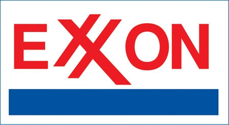 "Die-Cut Decal- ""Exxon"" Logo"