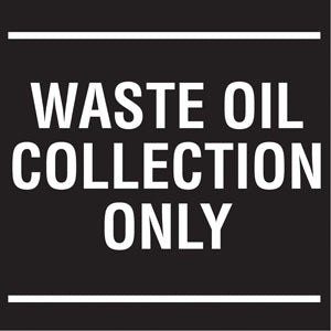 "Decal- ""Waste Oil Collection"""