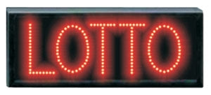 "Red LED ""Lotto"" Sign"