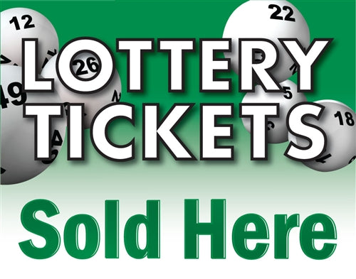 "Lottery Tickets- 12"" x 20"" Pump Topper Insert"