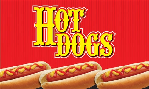"Hot Dogs- 12"" x 20"" Pump Topper Insert"