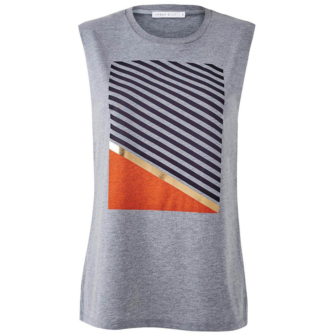 Ledbury Grey Chic Minimalist Style Top Front View