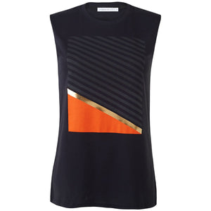Ledbury Black Chic Minimalist Style Top Front View