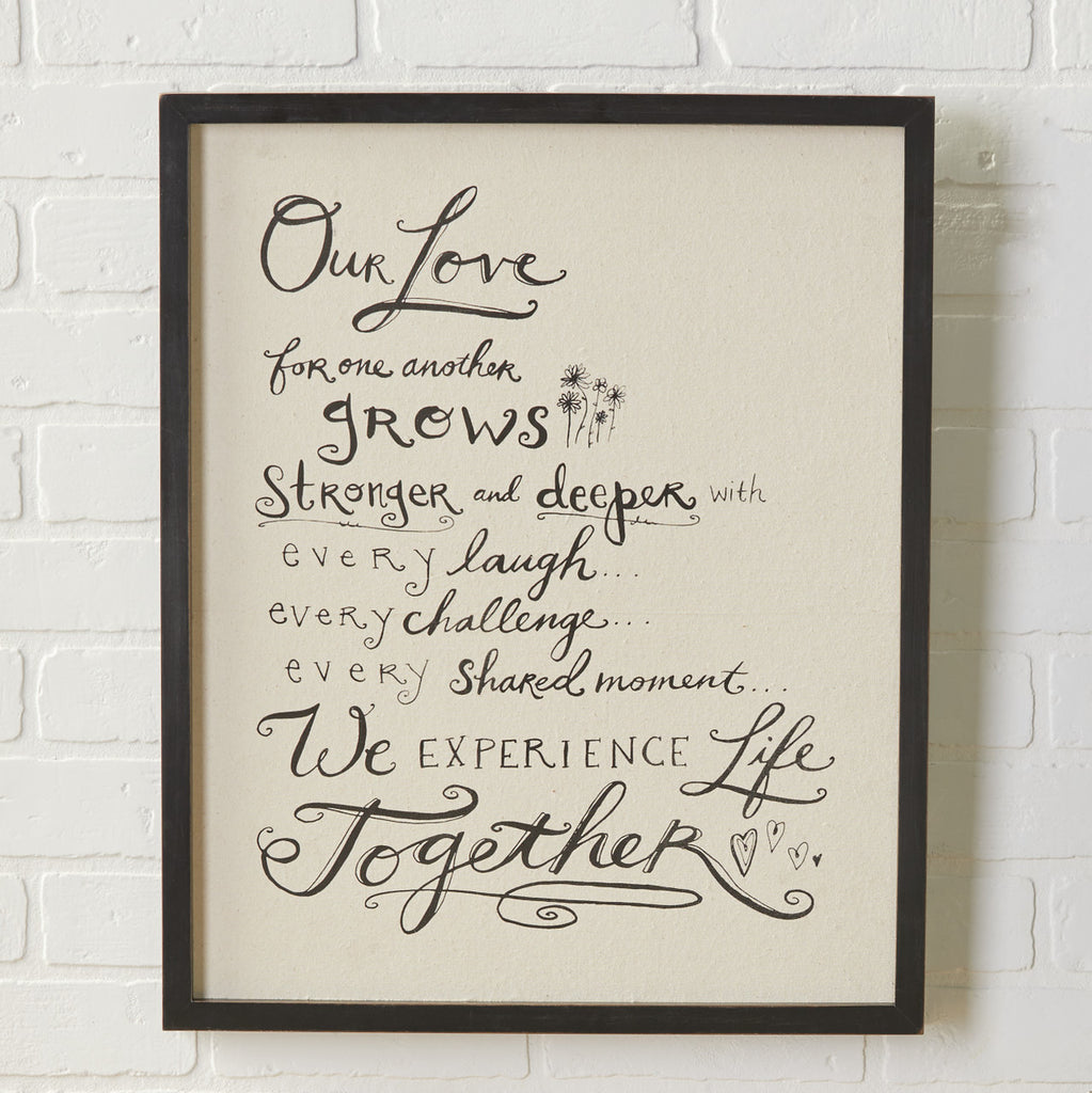 "LOVE FOR ONE ANOTHER Wall Art - 18"" x 22"""
