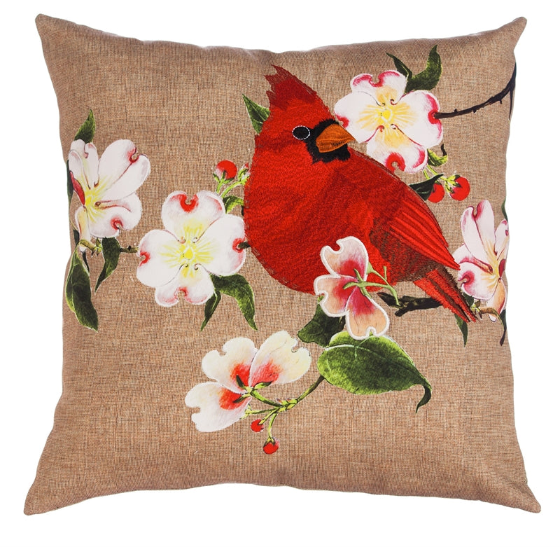 CARDINAL-DOGWOOD Indoor/Outdoor Pillow
