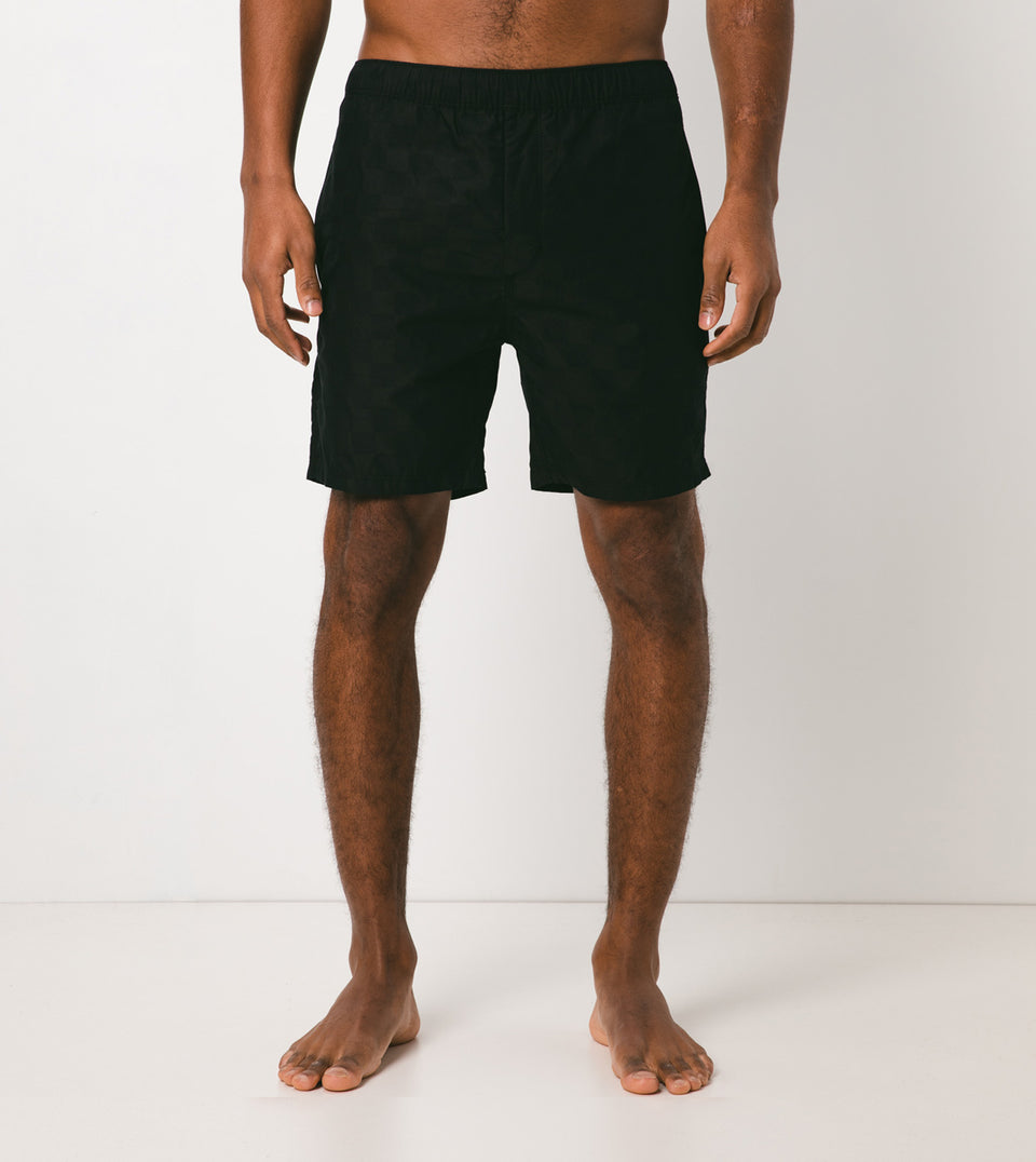 Checkerboard Laguna Short Black - Sale
