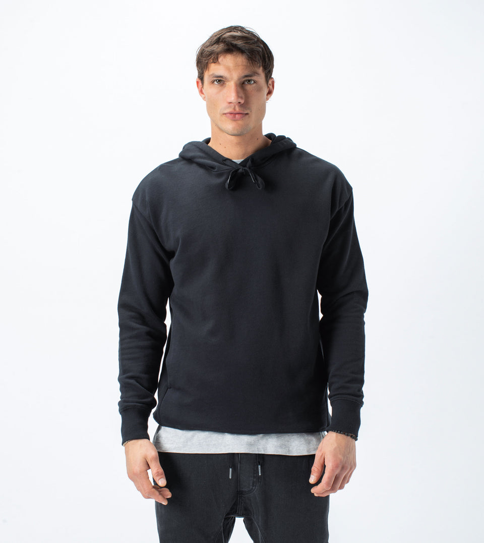 Rugger Hood Sweat Black