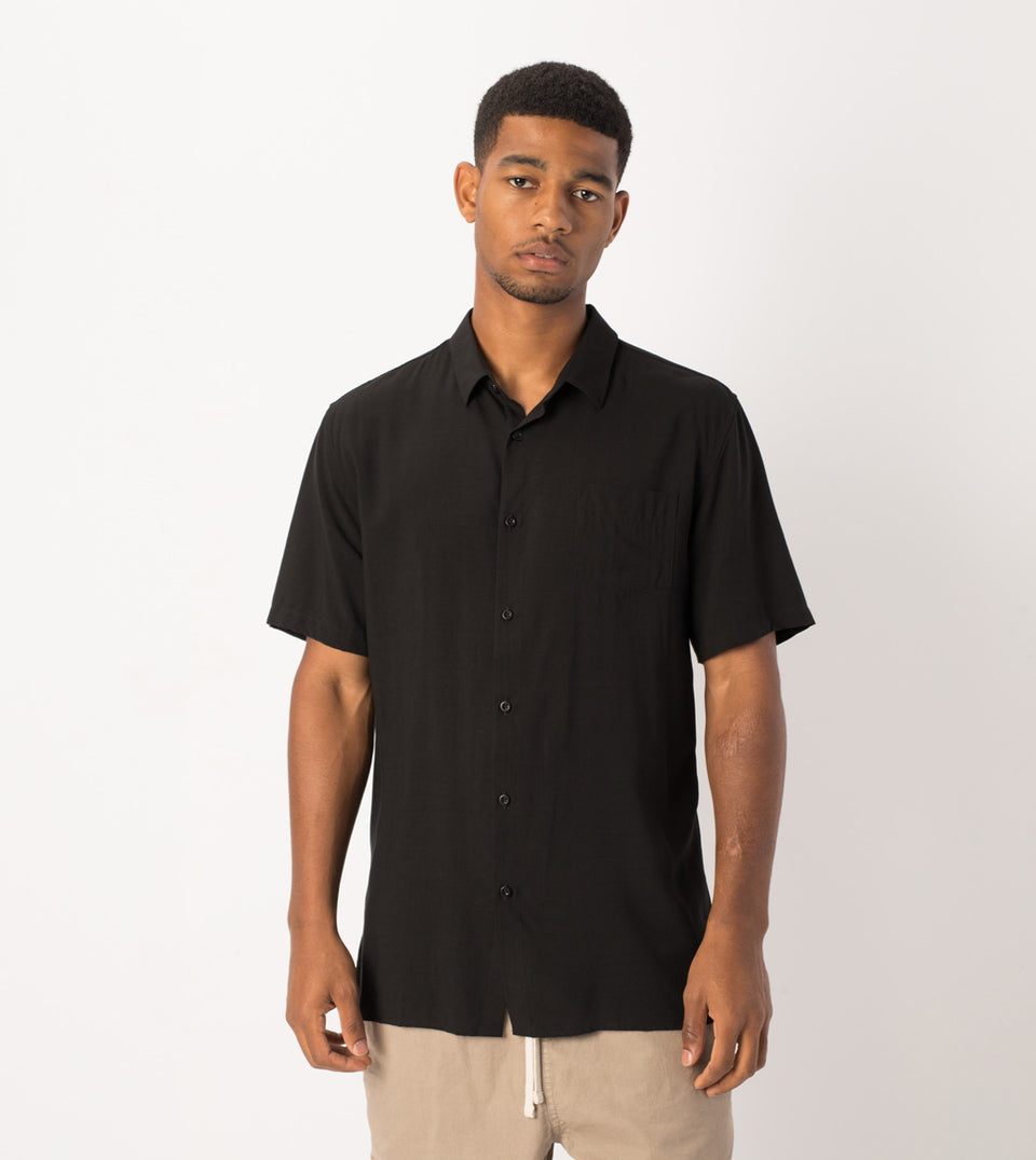 Solid SS Shirt Black - Sale