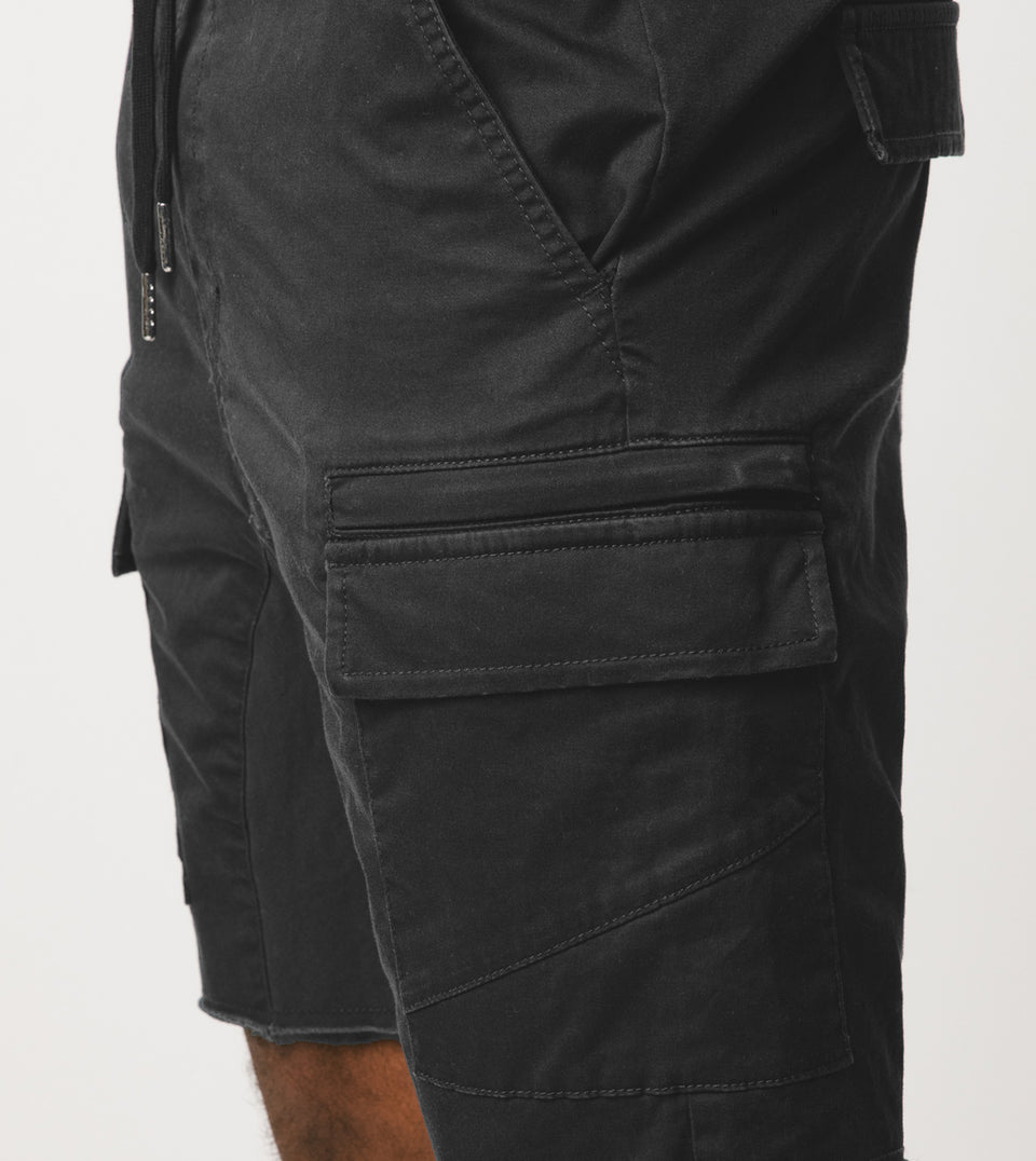 Sureshot Lightweight Cargo Short Vintage Black - Sale