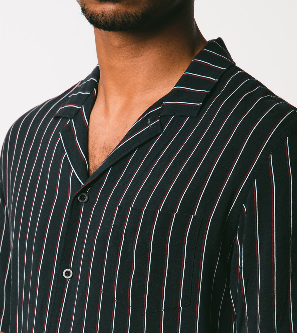 Twinstripe SS Shirt Black - Sale