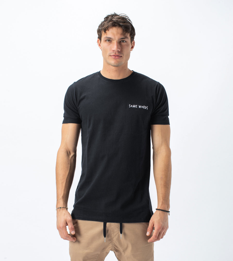 Words Flintlock Tee Smokey Black - Sale