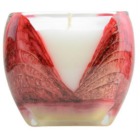 Mistletoe Red Cascade Candle By