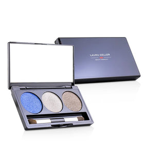 Baked Cream Glaze Trio Eyshadow Palette With Brush Duo Pack - # Sandy Lagoon - 2x3g/0.1oz