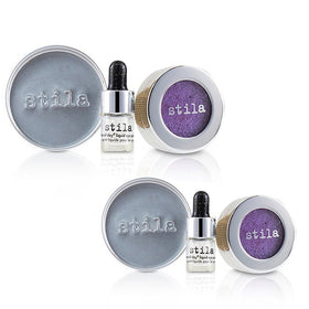 Magnificent Metals Foil Finish Eye Shadow With Mini Stay All Day Liquid Eye Primer Duo Pack - # Metallic Violet - 2x2pcs