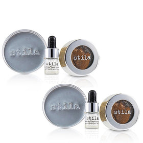 Magnificent Metals Foil Finish Eye Shadow With Mini Stay All Day Liquid Eye Primer Duo Pack - Comex Copper - 2x2pcs