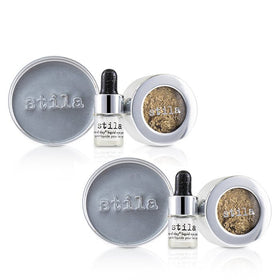 Magnificent Metals Foil Finish Eye Shadow With Mini Stay All Day Liquid Eye Primer Duo Pack - Gilded Gold - 2x2pcs