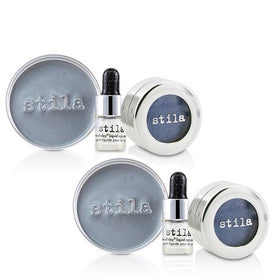Magnificent Metals Foil Finish Eye Shadow With Mini Stay All Day Liquid Eye Primer Duo Pack - Metallic Cobalt - 2x2pcs