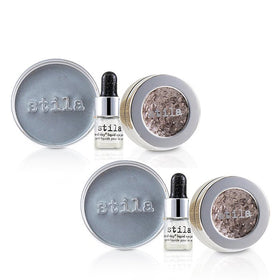 Magnificent Metals Foil Finish Eye Shadow With Mini Stay All Day Liquid Eye Primer Duo Pack - Metallic Dusty Rose - 2x2pcs