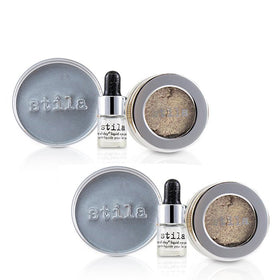 Magnificent Metals Foil Finish Eye Shadow With Mini Stay All Day Liquid Eye Primer Duo Pack - Metallic Pixie Dust - 2x2pcs