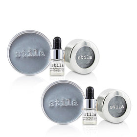 Magnificent Metals Foil Finish Eye Shadow With Mini Stay All Day Liquid Eye Primer Duo Pack - Titanium - 2x2pcs