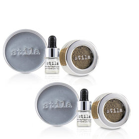 Magnificent Metals Foil Finish Eye Shadow With Mini Stay All Day Liquid Eye Primer Duo Pack- Vintage Black Gold - 2x2pcs