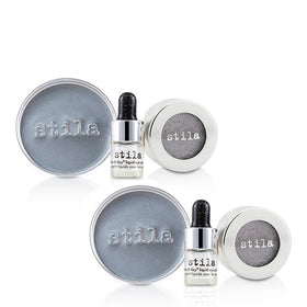 Magnificent Metals Foil Finish Eye Shadow With Mini Stay All Day Liquid Eye Primer Duo Pack - Metallic Lavender - 2x2pcs
