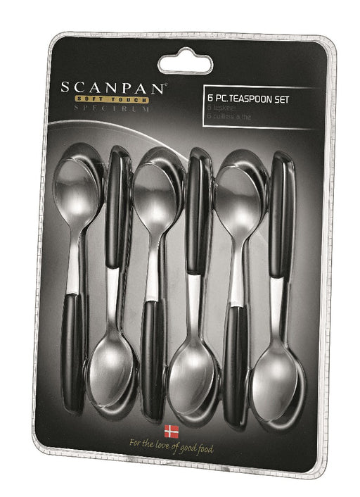Scanpan Spectrum Teaspoons set of 6 - Black