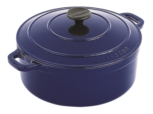 Chasseur Round Casserole 24cm / 3.8lt - French Blue