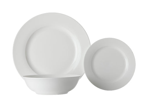 MW White Basics European Rim Dinner Set 12pc Gift Boxed