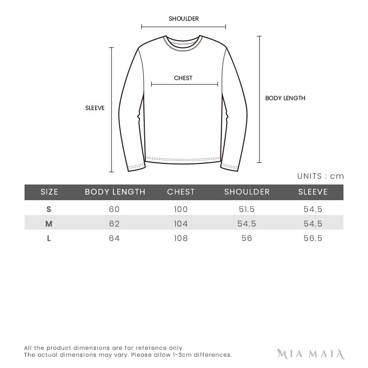 Champion Zip-Through Script Logo Hoodie | Size Chart | Mia-Maia.com