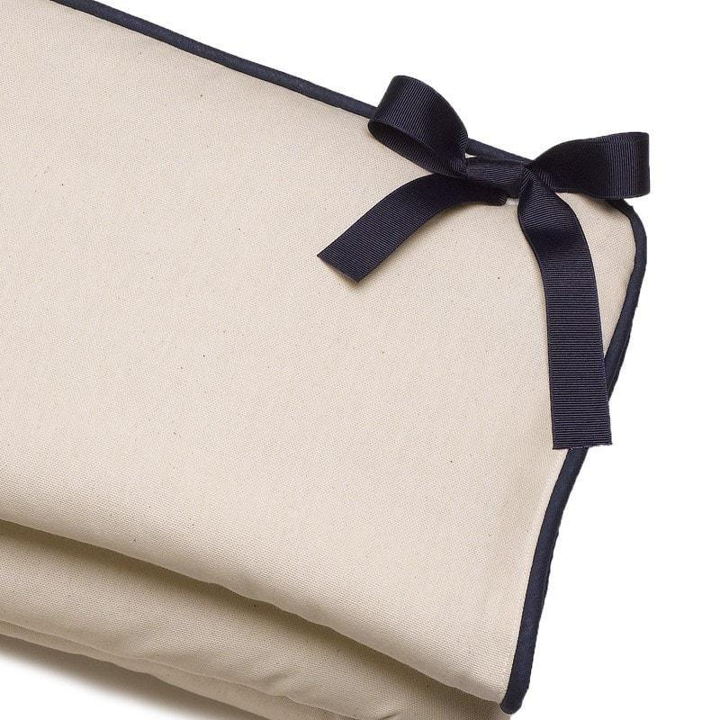 Liz & Roo Canvas Crib Rail Cover (Navy Trim)