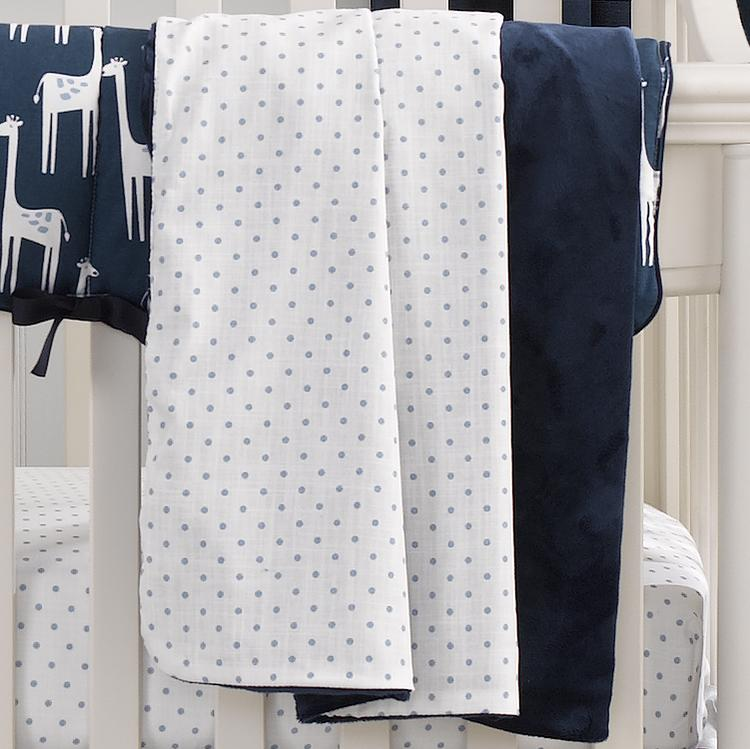 Liz & Roo Sky Blue Mini Dots Minky Receiving Blanket