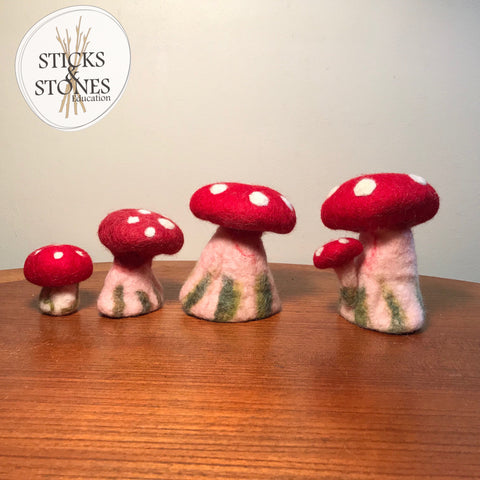 Felt Toadstool (Small) - Sticks & Stones Education