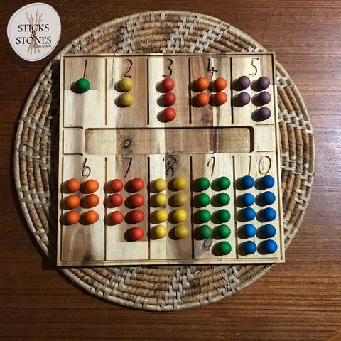 Natural Counting Board - Sticks & Stones Education