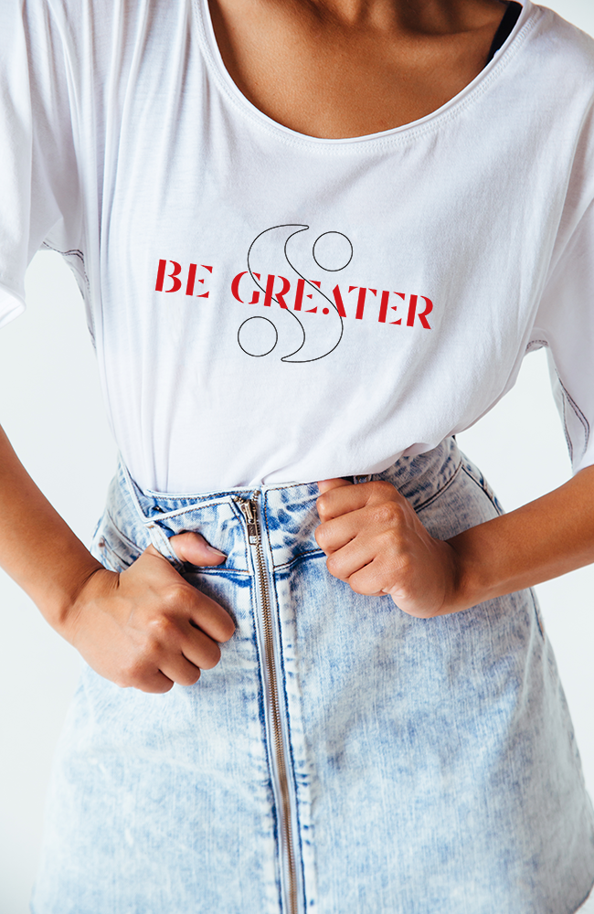 "Limited Edition ""Be Greater"" Logo Tee"