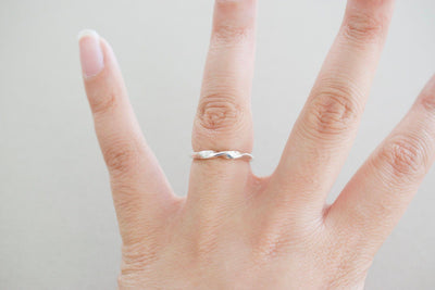 Simple Twisted Sterling Silver Ring
