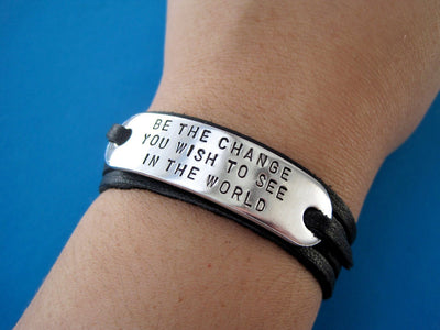 Do What You Love Wrap Bracelet | Stamped Bracelet, On Wrist