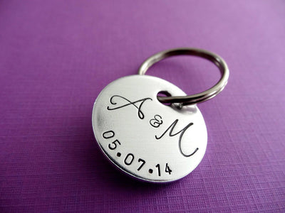 Personalized Keychain, close up