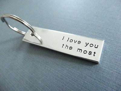 I love you the most Keychain