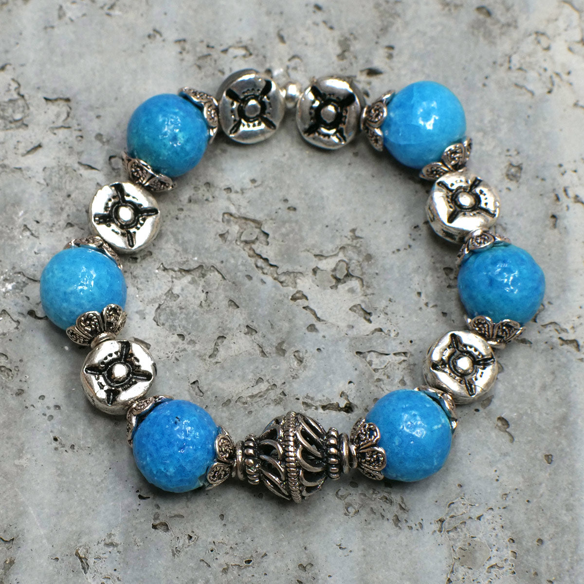 Women's Bracelet in Sky Blue Faience - Em Hotep Collection