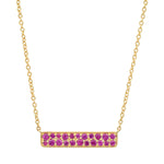 Eriness Jewelry Ruby Staple Necklace