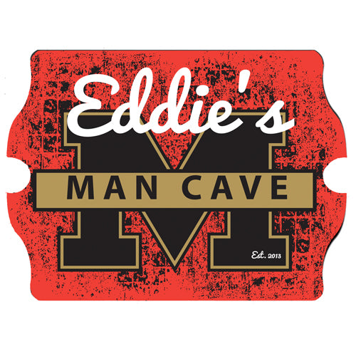 Personalized Premium Man Cave / Pub Sign - Stadium Composite Wood Base