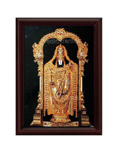 Lord Venkateshwara with full golden ornaments