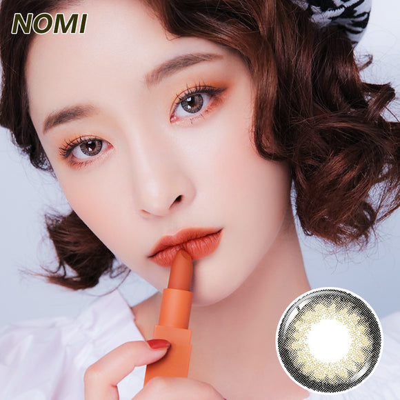 Korea NOMi Mermaid mixed blood size diameter disposable daily color contact lenses Natural Brown Indian