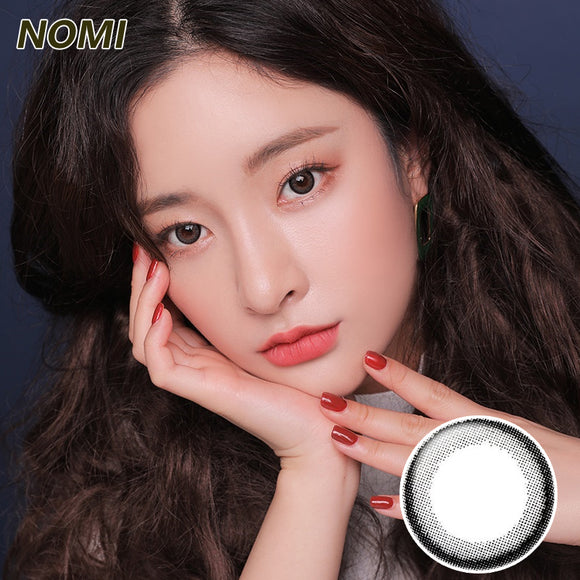 Korea NOMI mixed blood size diameter  mermaid disposable half yearly color contact lenses with degree Bonbonsbeginning Small Black Ring