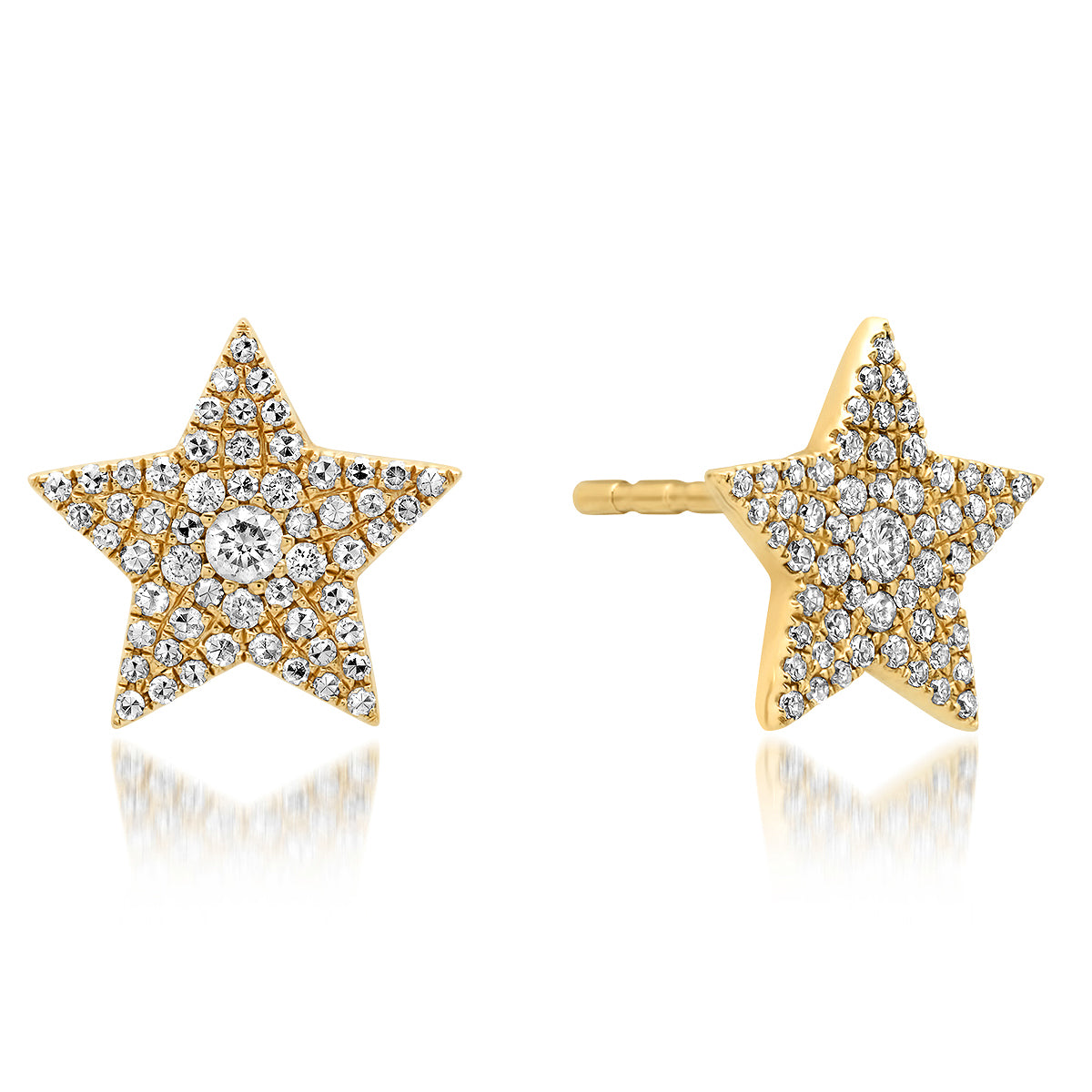 Pave Diamond Large Star Studs